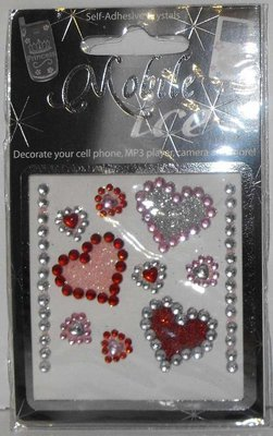 Assorted Hearts Cell Phone Sticker Mobile Ice Applique iPhone Sticker iPod Decal