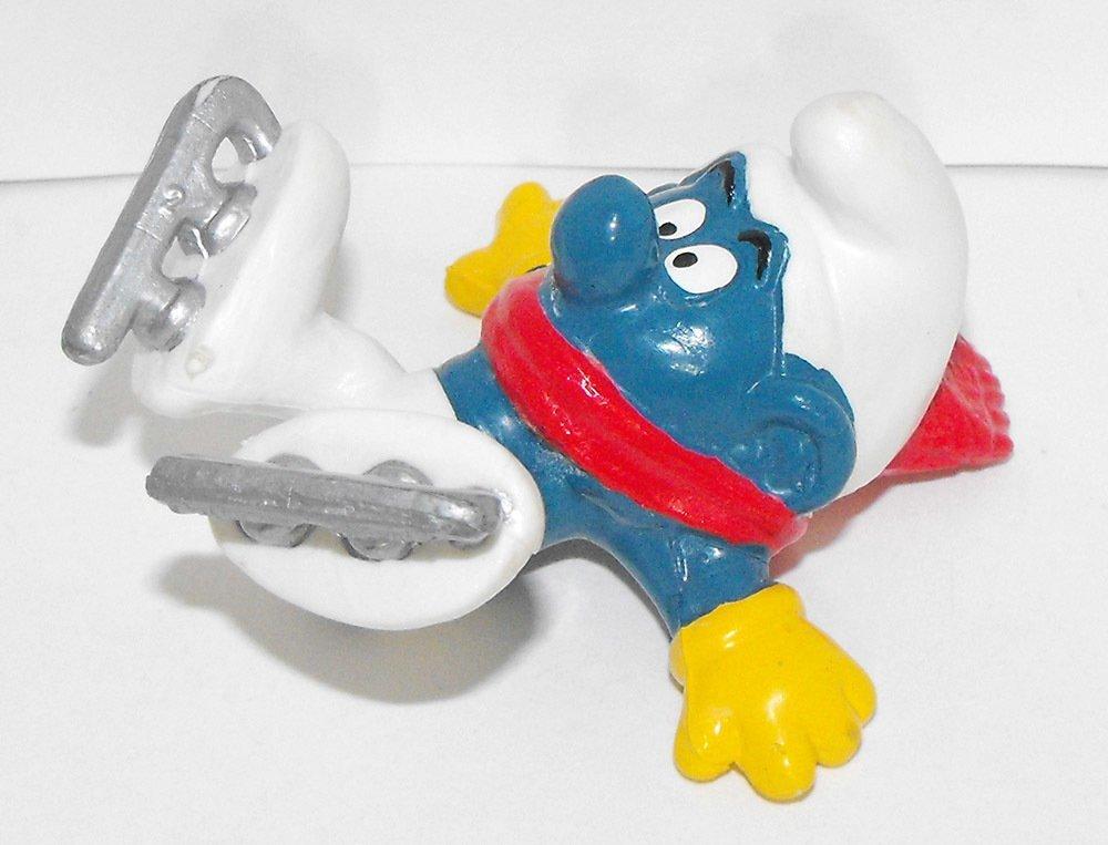 Ice Skater Smurf 2 inch Plastic Figurine 20121
