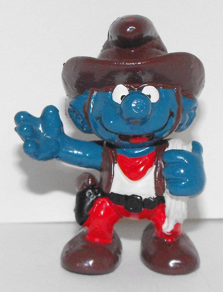 Cowboy Smurf 2 inch Plastic Figurine 20122
