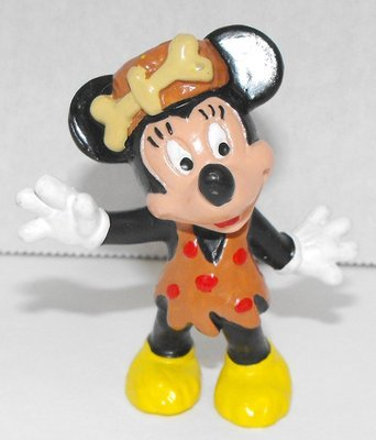Minnie Mouse Cave Woman 2 inch Plastic Figurine Caveman