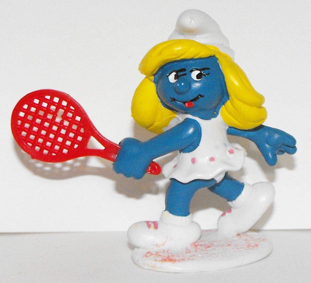 Tennis Smurfette 2 inch Plastic Figurine 20135