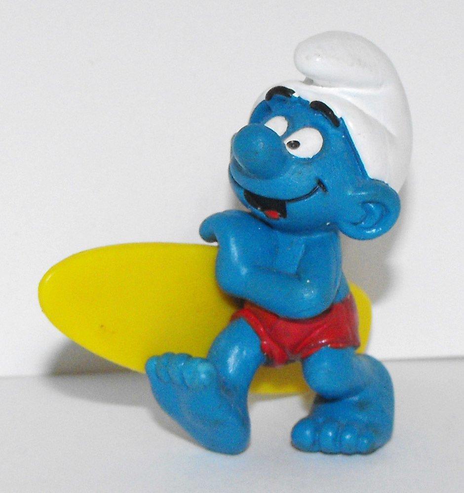 Surfer Smurf 2 inch Plastic Figurine Swim Surf 20137