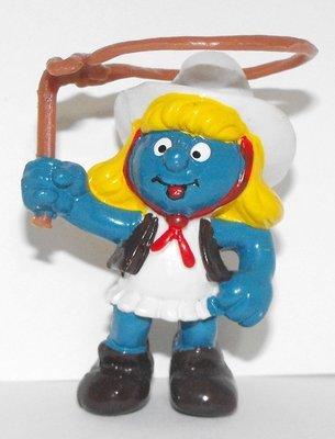 Cowgirl Smurfette 2 inch Plastic Figurine 20147