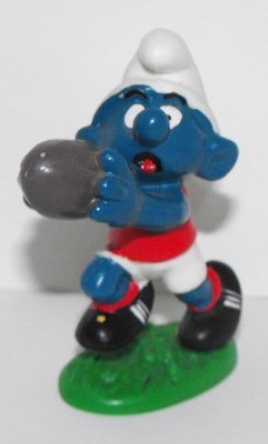 Australian Football Smurf 2 inch Plastic Figurine 20150