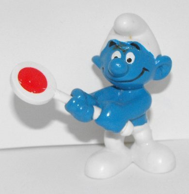 Patrol Crossing Smurf 2 inch Plastic Figurine 20154