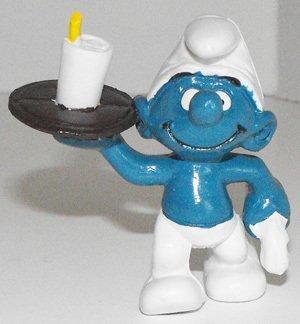 Waiter Smurf 2 inch Plastic Figurine 20162