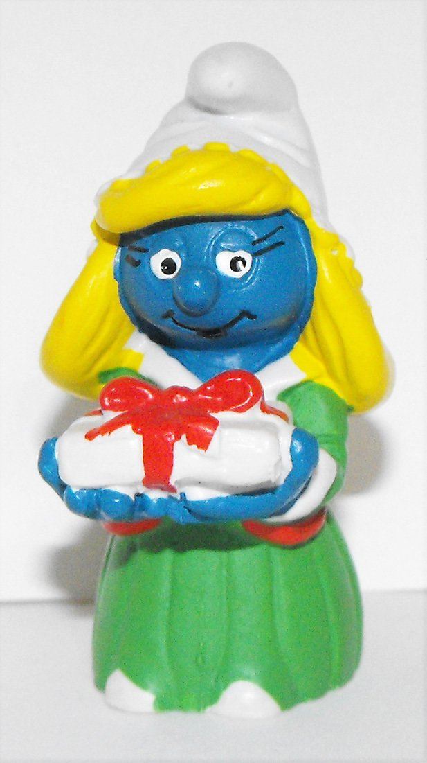 Christmas Smurfette 2 inch Plastic Figurine 20200