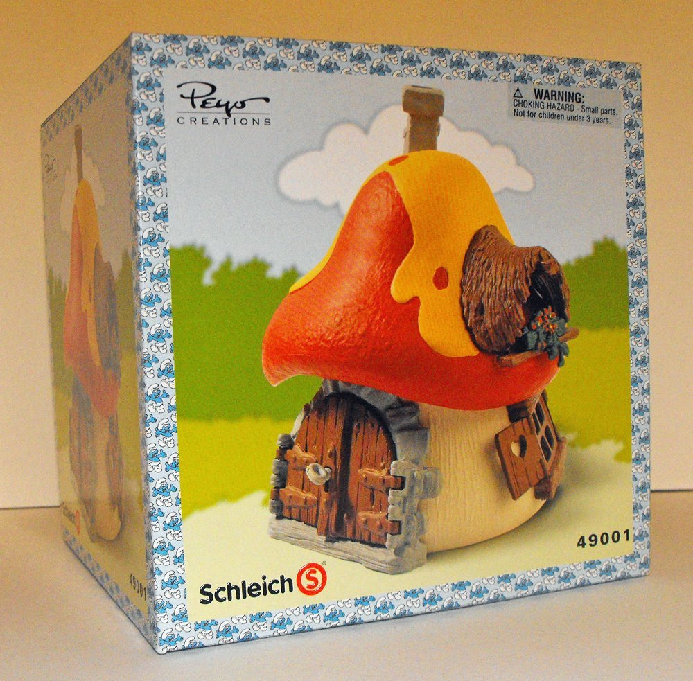 Large Orange Mushroom Smurf House