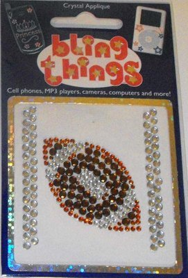 Football Crystal Appliqué Cell Phone BLING THING iPhone Sticker Decal