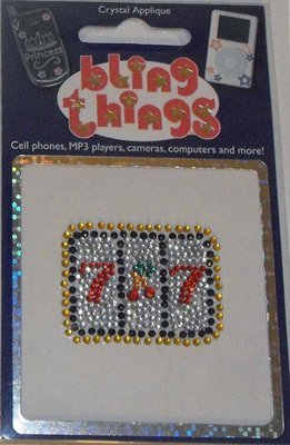 Slots Casino Crystal Appliqué Cell Phone BLING THING iPhone Sticker iPod Decal
