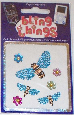 Bumble Bees Crystal Appliqué Cell Phone BLING THING iPhone Sticker iPod Decal