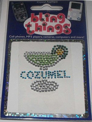 Cozumel Mexico Margarita Cell Phone BLING THING iPhone Sticker iPod Decal