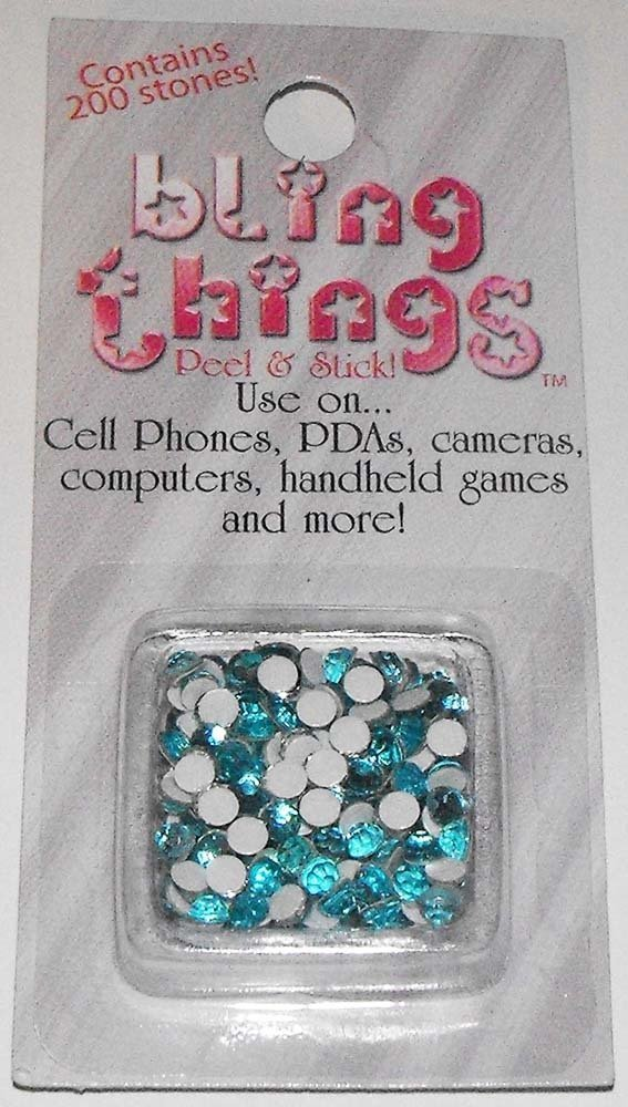 Blue Stones Cell Phone Jewelry BLING THING STICKERS - MAKE YOUR OWN DECAL