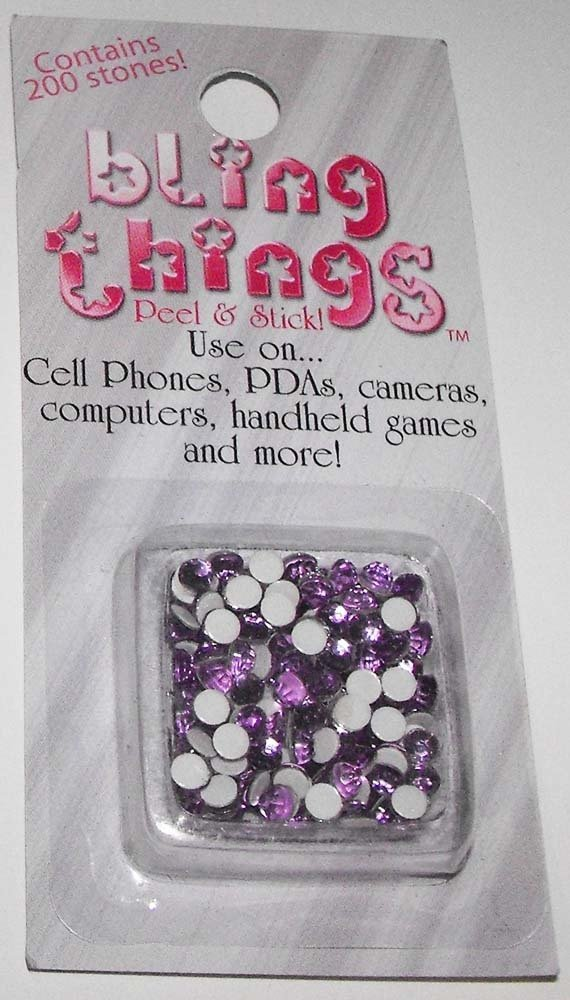 Purple Stones Cell Phone Jewelry BLING THING STICKERS - MAKE YOUR OWN DECAL