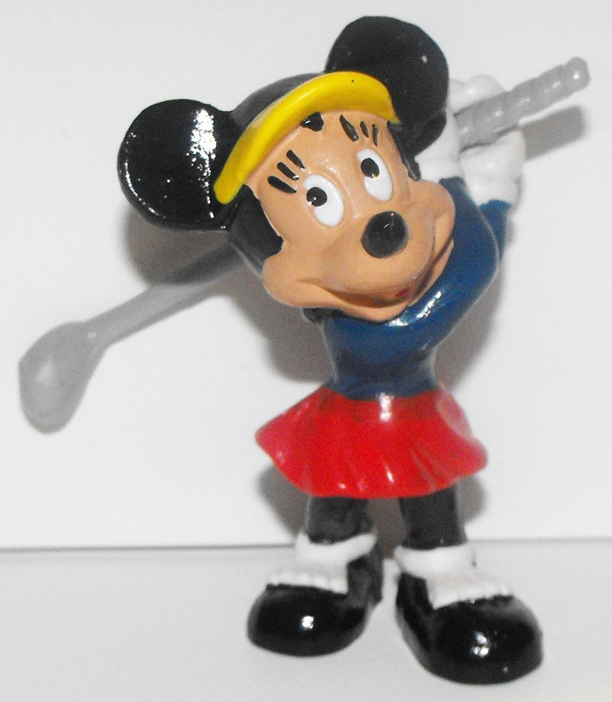 Minnie Mouse Golfing Plastic Figurine