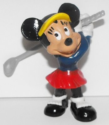 Minnie Mouse Golfing Plastic Figurine