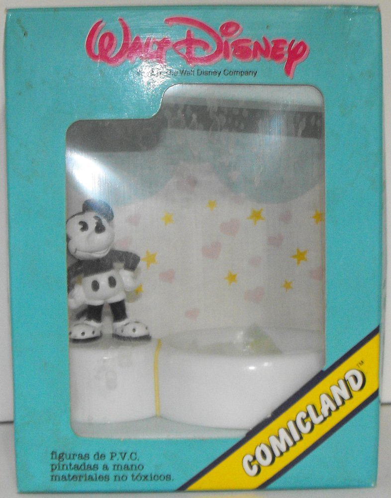 Black and White Mickey Mouse Paperclip Holder in original box-