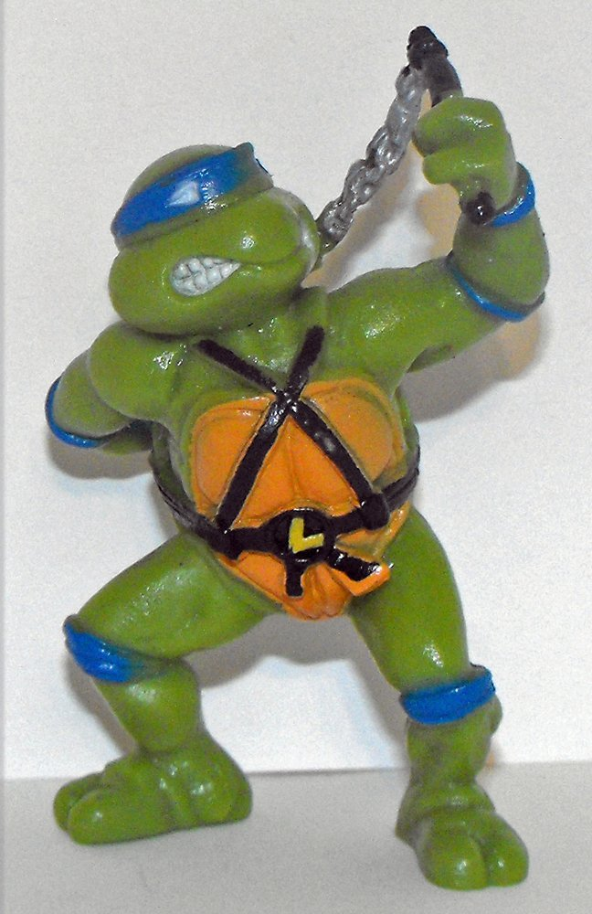 TMNT Leonardo 3 inch Plastic Figurine 1988 by Yolanda