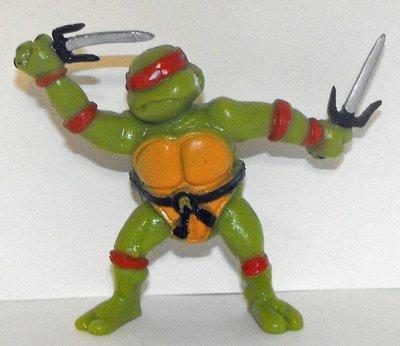 TMNT Raphael 3 inch Plastic Figurine 1988 by Yolanda