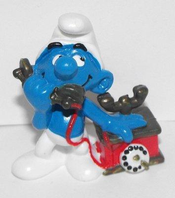 Telephone Smurf 2 inch Vintage Figurine 20062