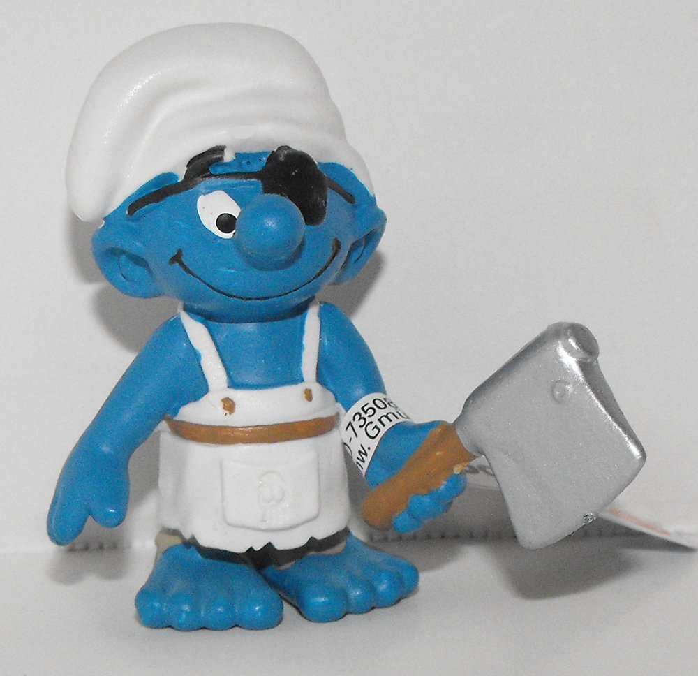 20764 Ship's Cook Smurf Figurine from 2014 Pirate Set Plastic Miniature Figure