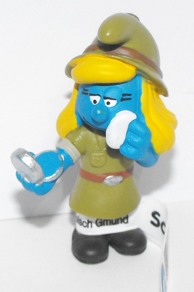 20776 Jungle Adventure Smurfette Plastic Figurine 2016 Plastic Miniature Figure