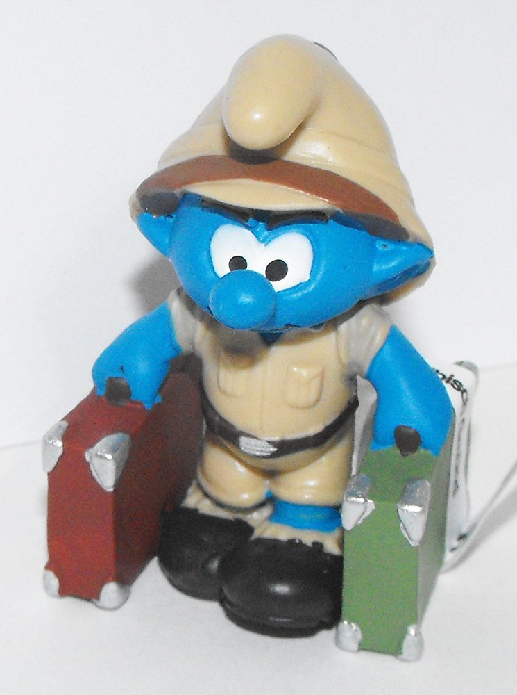 20780 Jungle Adventure Explorer Smurf Figure 2016 Plastic Miniature Figurine