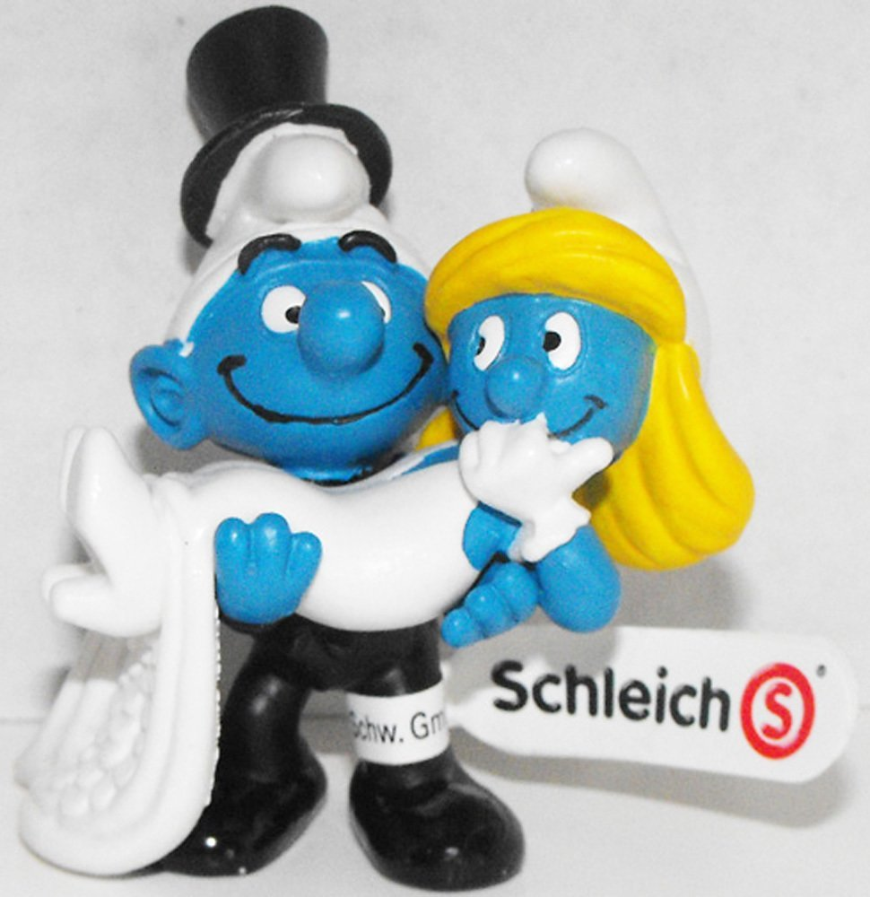 20746 Bride and Groom Smurfs 2013 Smurfy Greetings Collection Wedding Figurines