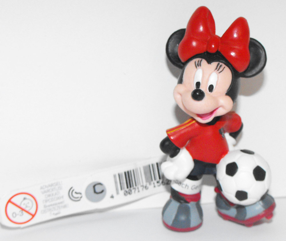 Minne Mouse (red) Playing Soccer 2 inch Plastic Figurine