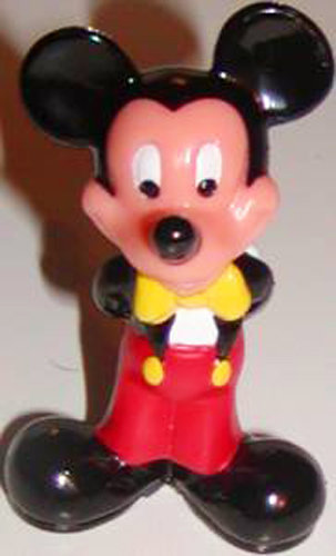 Mickey Mouse in Bow-tie with Hands behind back Figure Plastic Figurine