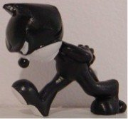 Felix the Cat Walking 2 inch Plastic Miniature Figure Figurine