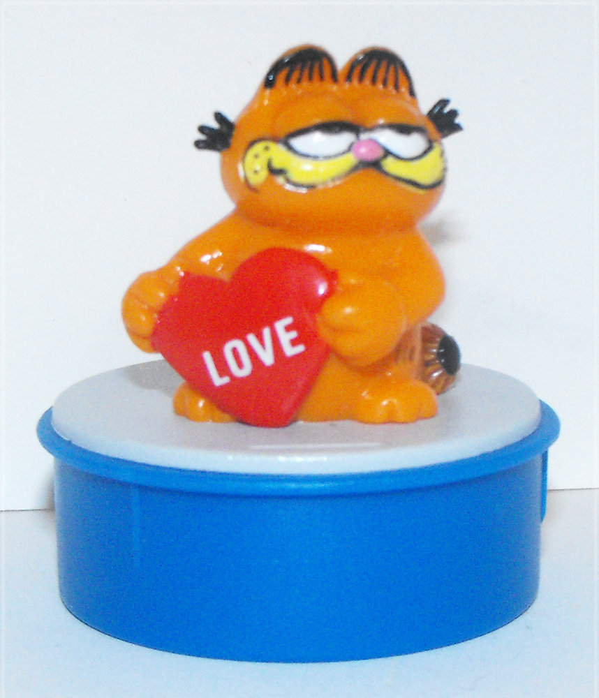 Garfield with Love Heart Blue Ink Stamper
