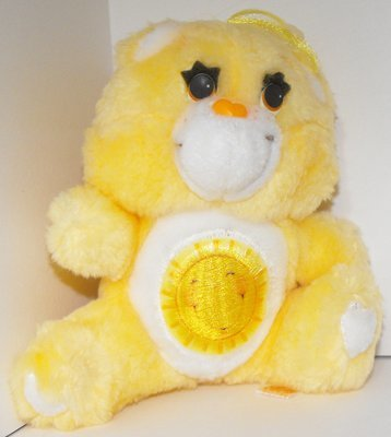 Funshine Bear Care Bears 6 inch Vintage Plush Stuffed Animal