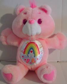 Cheer Bear 13 inch Vintage Environmental Plush 1991 Care Bears