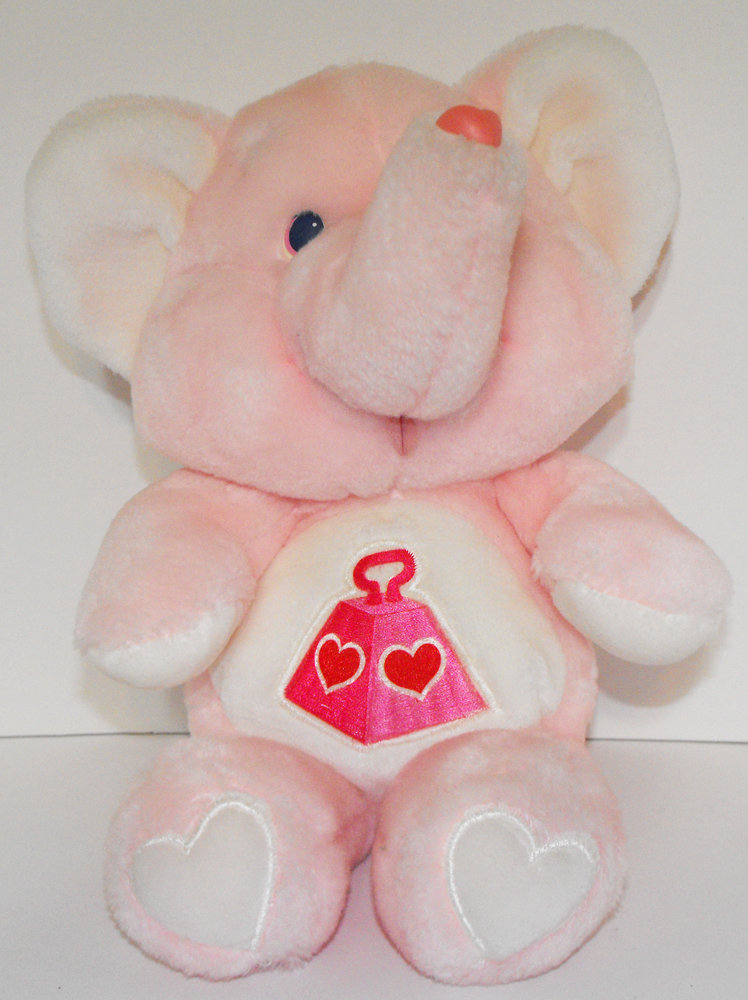 Lots-A-Heart Elephant 13 inch Vintage Plush Stuffed Animal