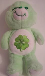 Good Luck  Bear 18 inch Vintage Plush Care Bears Stuffed Animal