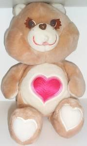 Tenderheart  Bear 18 inch Vintage Plush Care Bears Stuffed Animal