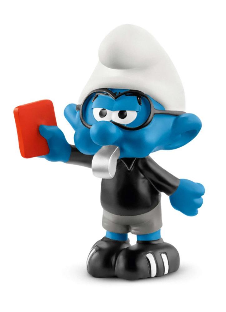 NEW Soccer Smurf Referee 20809 Plastic Figurine 2018 Football Set