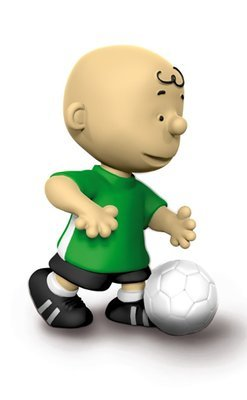 Footballer Soccer Charlie Brown 2 inch Figurine Peanuts Miniature Figure