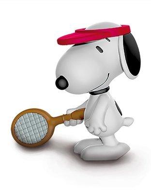Tennis Player Snoopy 2 inch Figurine Peanuts Miniature Figure