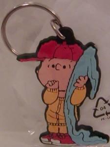 Linus with Blanket Peanuts Flat Plastic Key Chain Snoopy Keychain