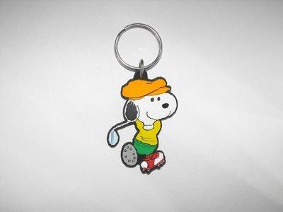 Snoopy Golf Peanuts Flat Plastic Key Chain Golfing Keychain Golfer