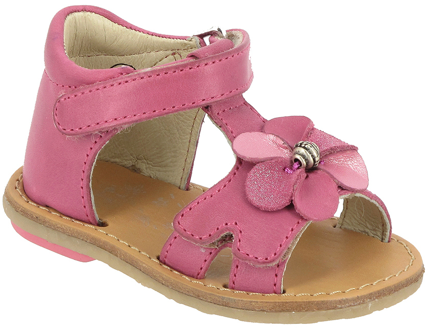 Noel Mini Saba Infant And Young Girls Sandal In Fuchsia European Size 21 26