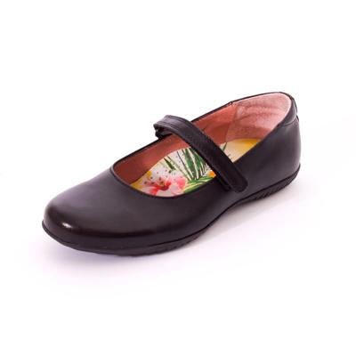 Petasil Evie Girls School Shoe In Black European 31 41 D Width Fitting