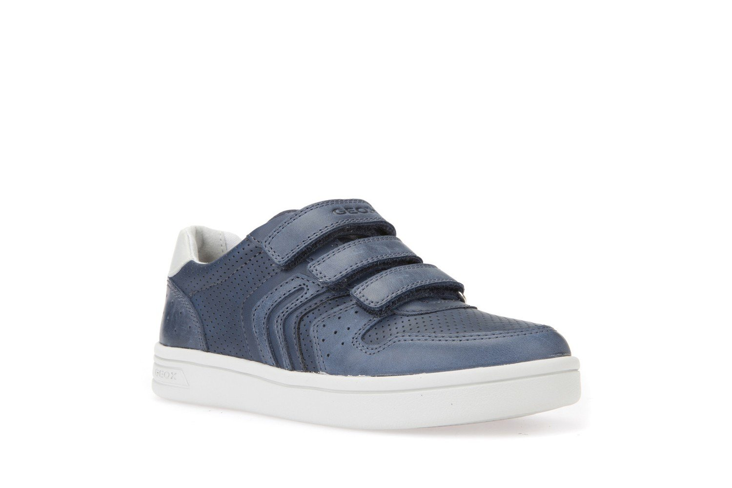 detailed look 810ce cb4ae Geox DJ Rock Boys Navy Trainers European Size Range 28-36