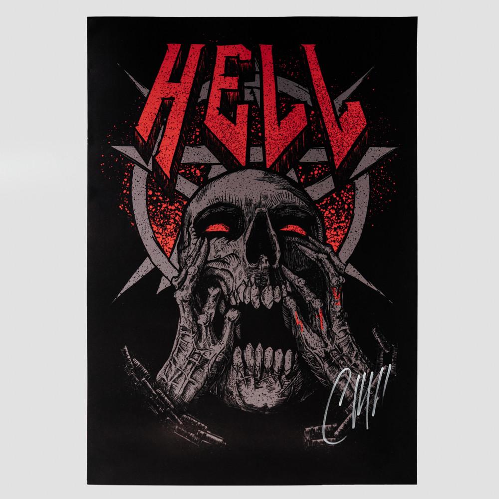 """Постер """"Hell"""" с росписью"""