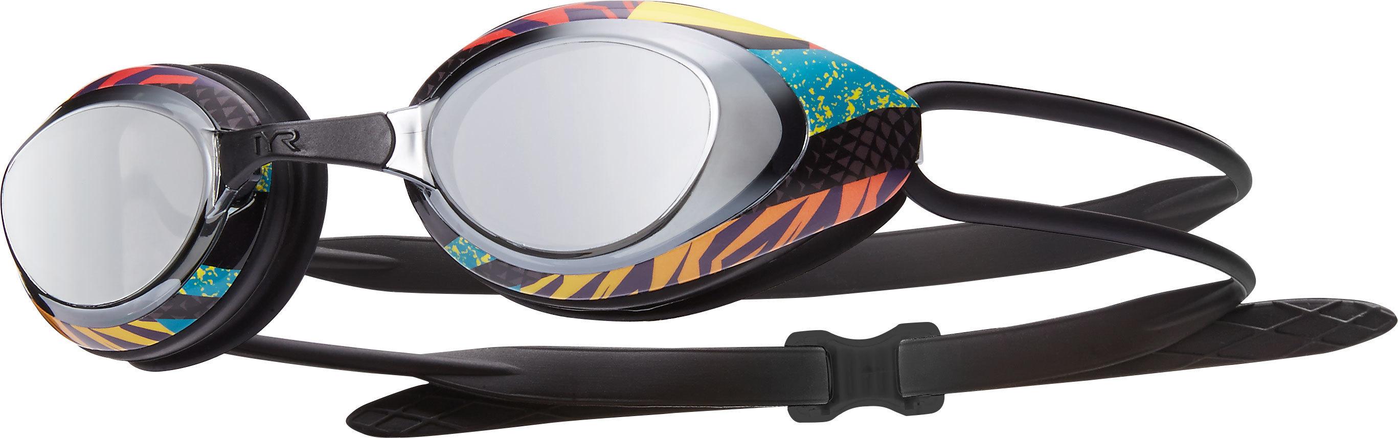 Очки для плавания TYR Black Hawk Racing Mirrored Prelude