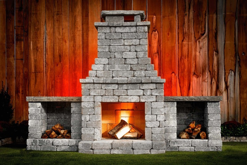 Fremont DIY Outdoor Fireplace Kit