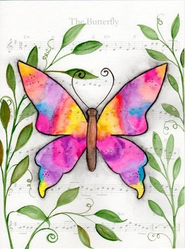 """07-10-19  Watercolor Wednesday $20.00 SALE """"The Butterly"""""""