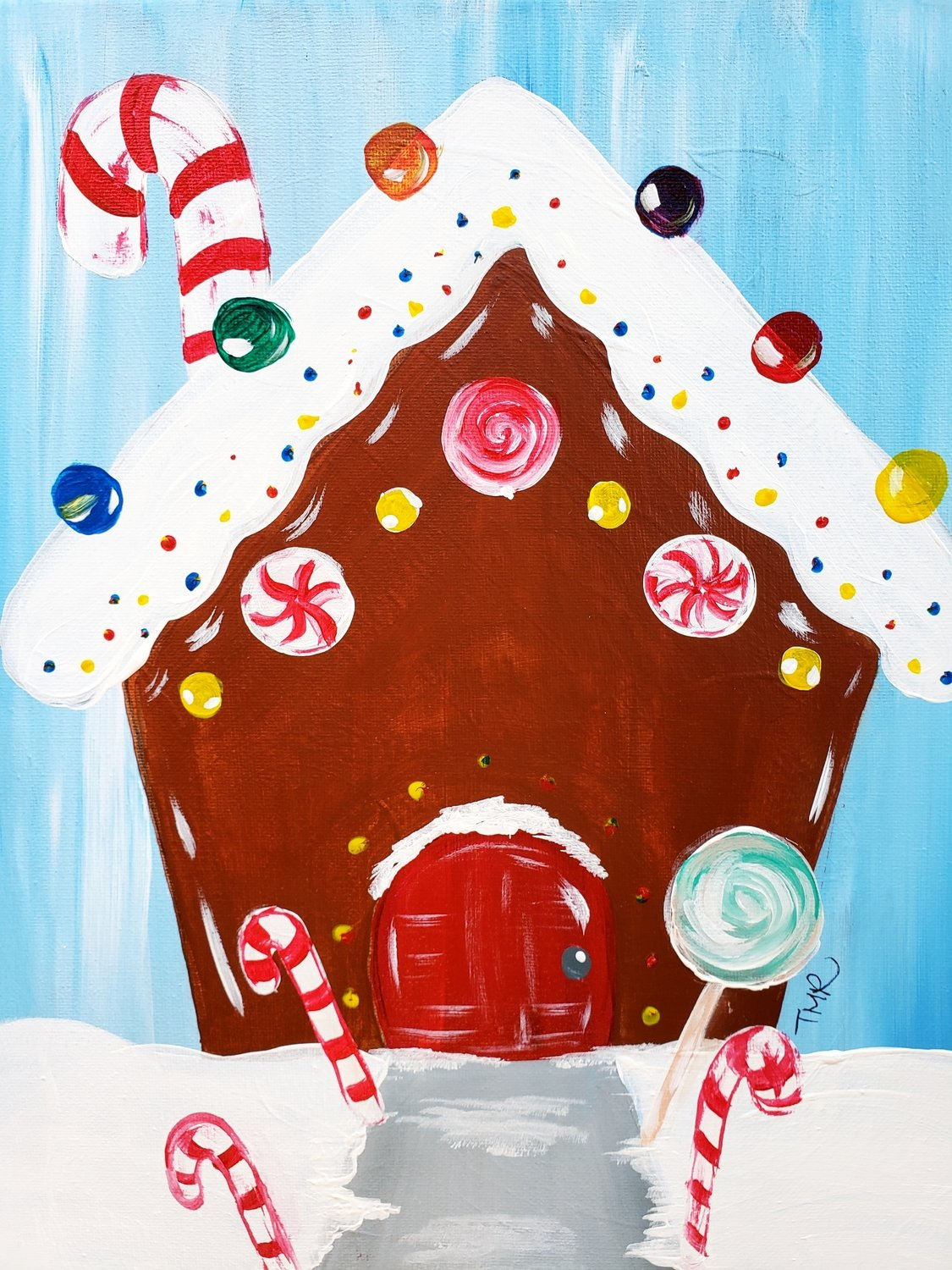 "12-22-18 ""Candy House"" Family Paint Event  - 12pm"